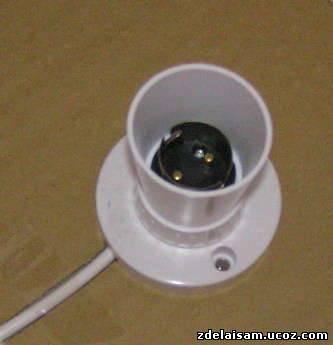как сделать оригинальный светильник своими руками.