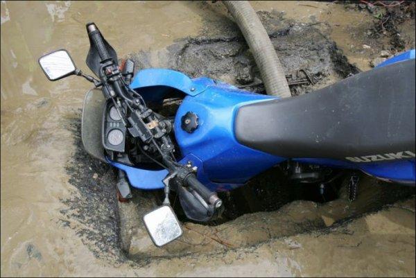 Мотоциклисту не повезло