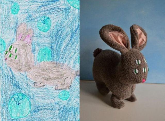Игрушки по детским рисункам