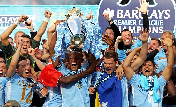 Манчестер Сити чемпион Англии 2011/12!