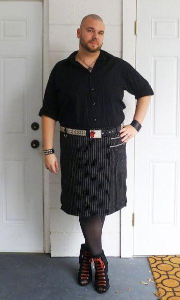 Мужик за разнообразие в мужской одежде
