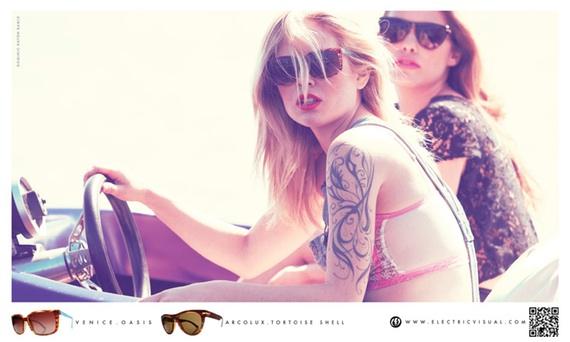 Лукбук летней коллекции солнцезащитных очков марки Electric