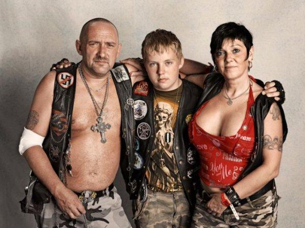 Портреты байкеров с Harley-Davidson