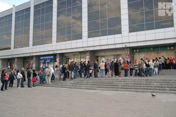 В Гомеле выстроилась очередь из 200 человек