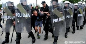 В Варшаве задержаны российские болельщики