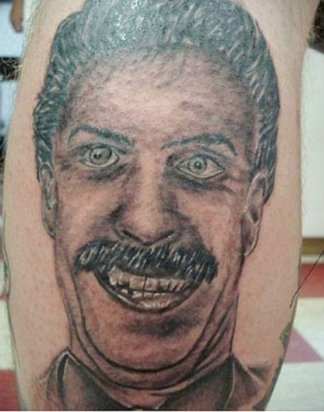 Тату с портретами не всегда удачны