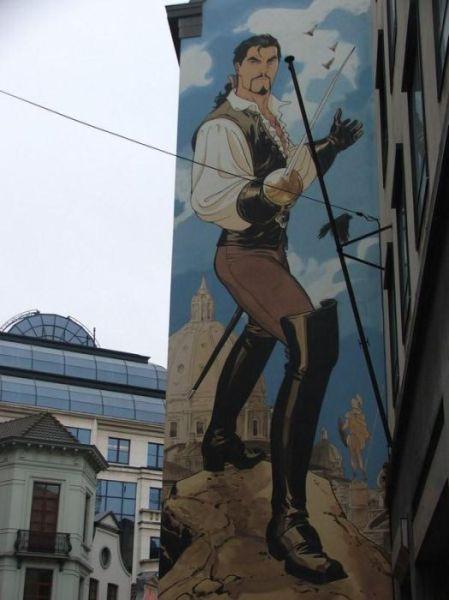 Удивительный стрит-арт в Бельгии