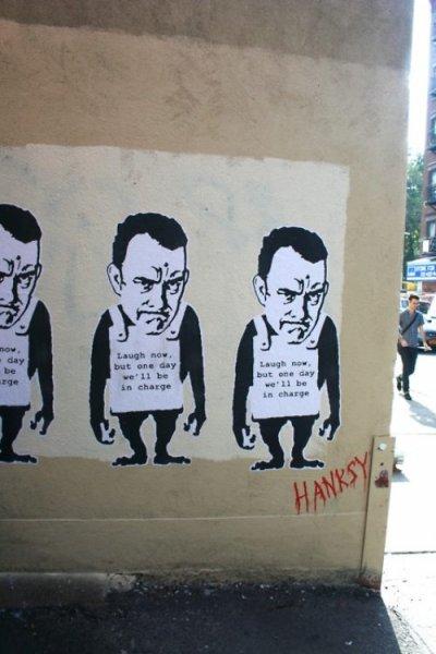 Banksy - в сад! Пришел Hanksy!