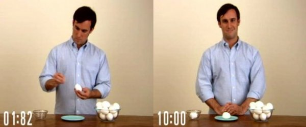 Как за 10 секунд почистить яйцо?