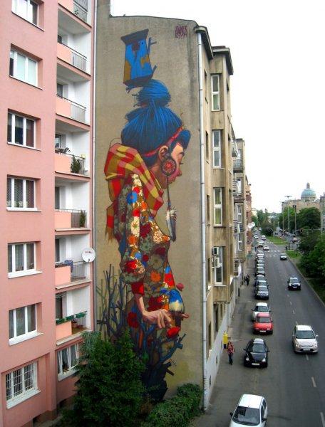 Масштабный стрит-арт польского дуэта Etam Cru