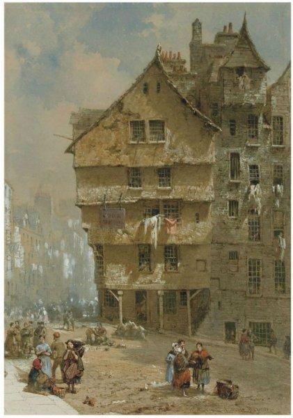 Архитектура старой Англии в акварели