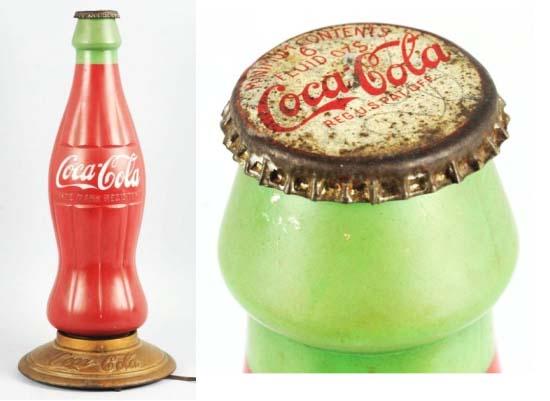 Сколько бы вы дали за антикварную лампу-бутылку Coca-Cola?