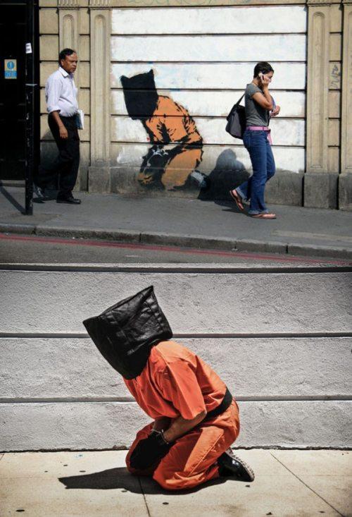 Оживили работы Banksy