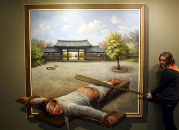 Музей иллюзий в Южной Корее
