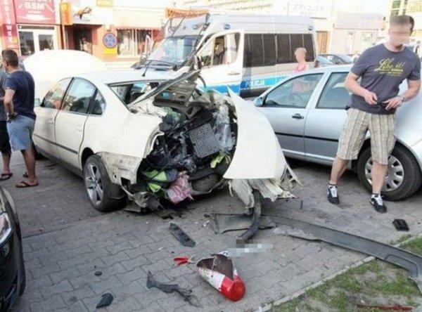 В Польше Взорвался беларусский автомобиль