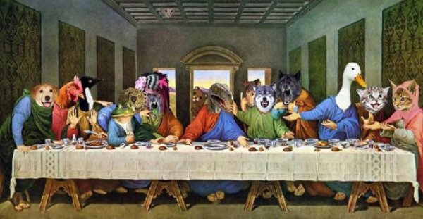 """Пародии на """"Тайная вечеря"""""""