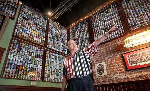 Самая большая в США коллекция пивных банок