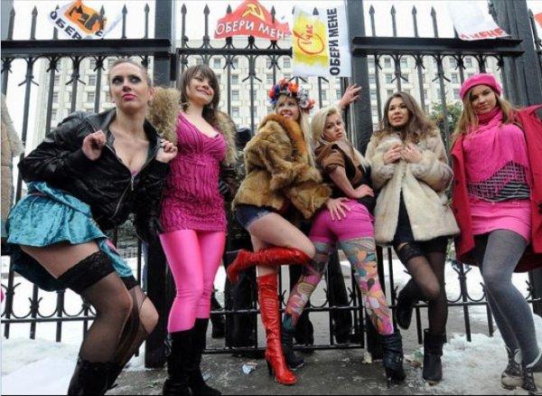 FEMEN - лучшие акции 2008-2010 годов