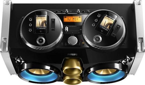 Мини hi-fi система Philips для диджеев с iPhone