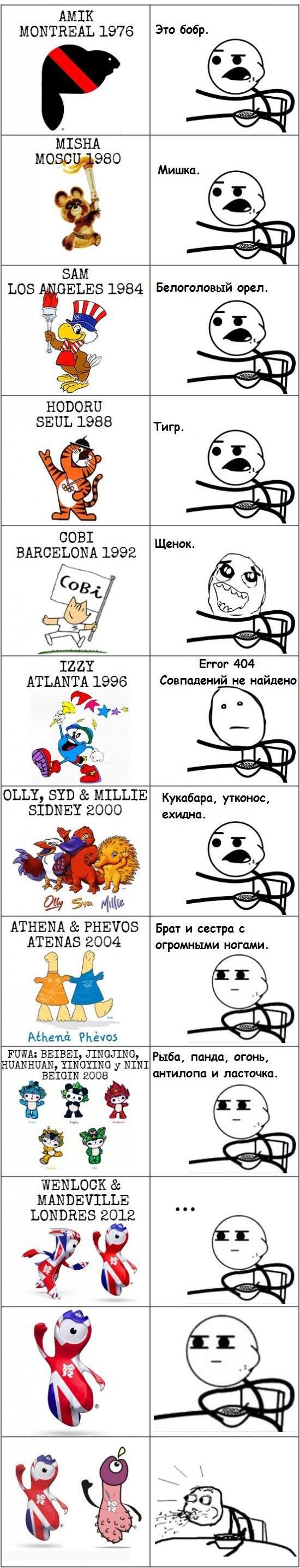 Эволюция символов олимпиад.
