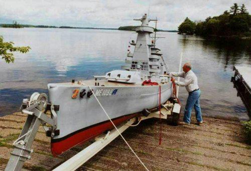 Уникальная модель крейсера нацистов