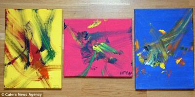 Картины, написанные ослицей, продали за $150 тыс