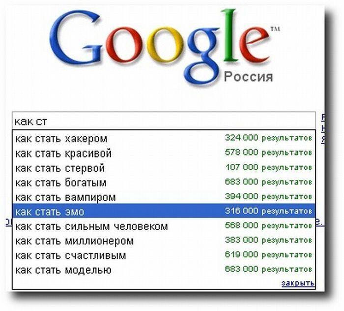 Нелепости от поисковиков