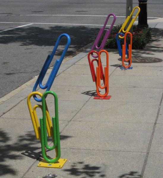 Прикольные велопарковки