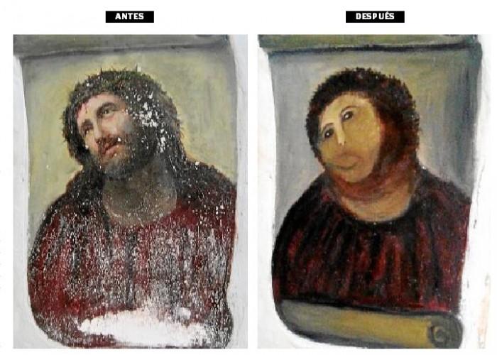 Посильная помощь в восстановлении фрески - онлайн игра