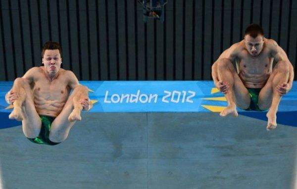 Лучшие гримасы Олимпиады: фигуристы против прыгунов в воду