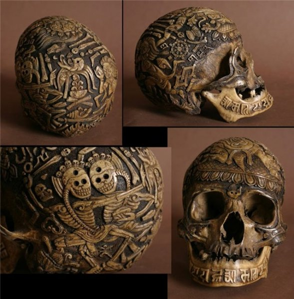 Резьба по черепу