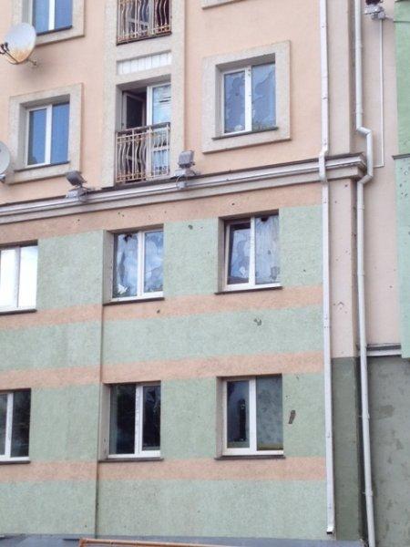 Фонтан кипятка на Партизанском проспекте в Минске