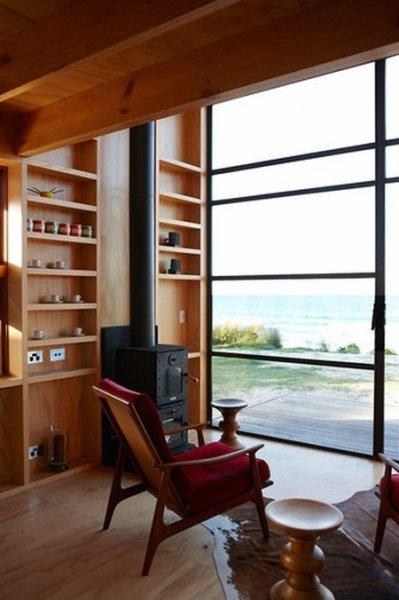 Пляжный сарайчик в Новой Зеландии