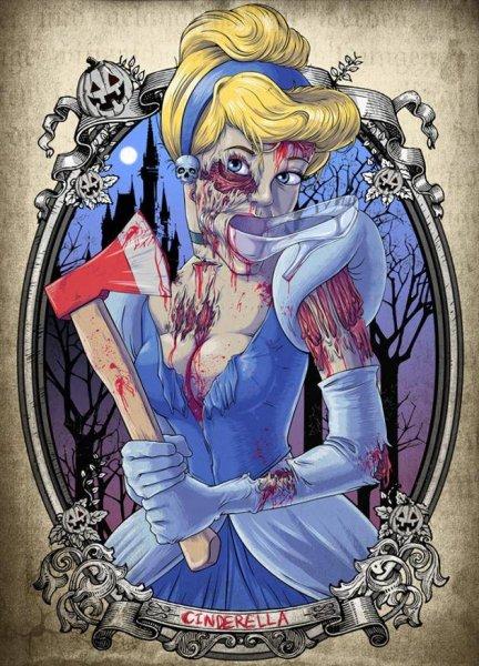 Принцессы Диснея стали зомби!