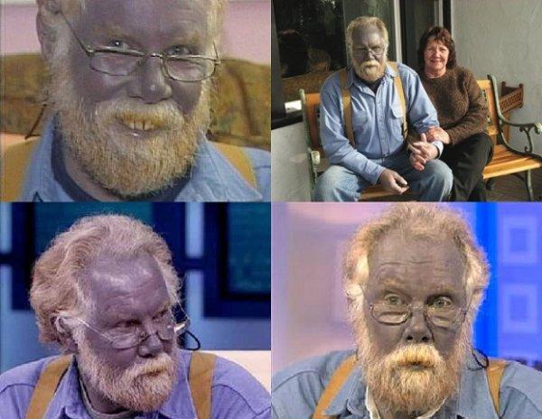 Человек синего цвета живёт в Калифорнии