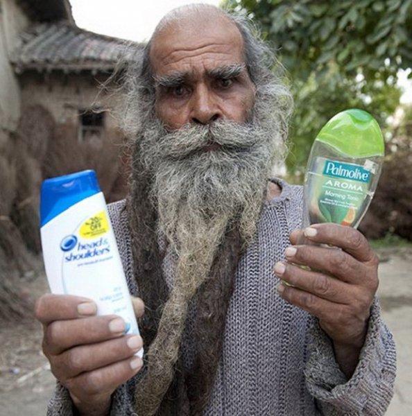 Мужчина из Индии не моется на протяжении 37 лет