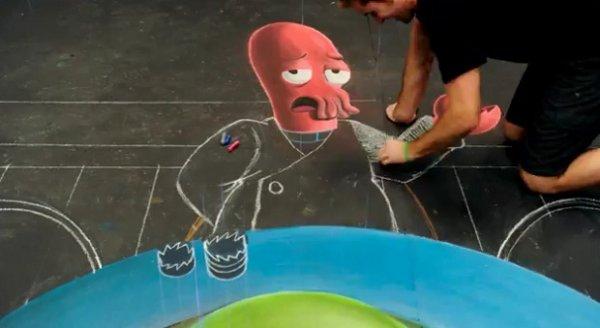 Как создаются 3D-рисунок на асфальте?