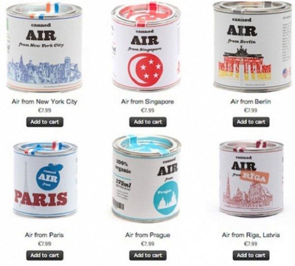 Можно купить консервированный воздух далёкого, но любимого города