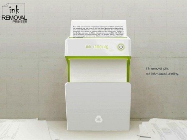 Существует принтер, который стирает напечатанное
