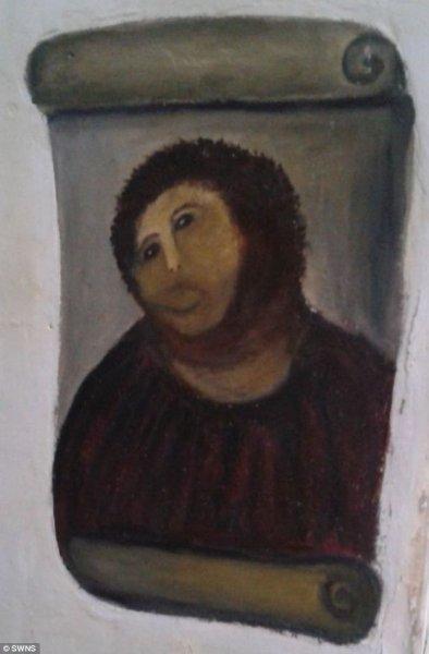 Макияж на тему испорченной испанской фрески