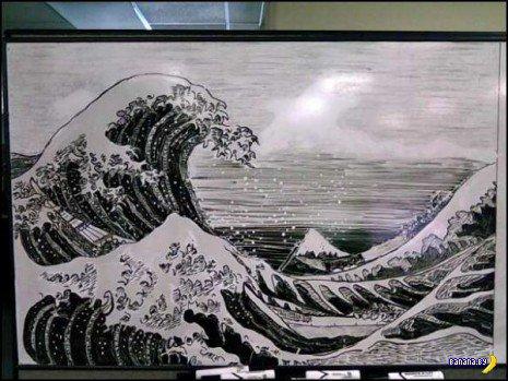 Крутые рисунки на белой доске