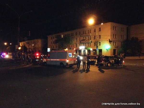 В ночном столкновении с машиной МВД погиб минский байкер