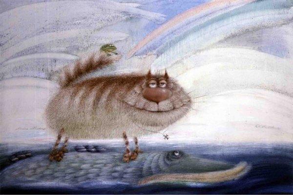 Коты от художника Валерия Хлебникова