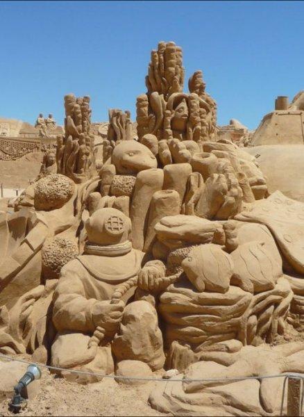 Скульптуры из песка - новый уровень!