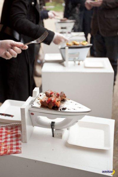 Странный способ готовки шашлыка