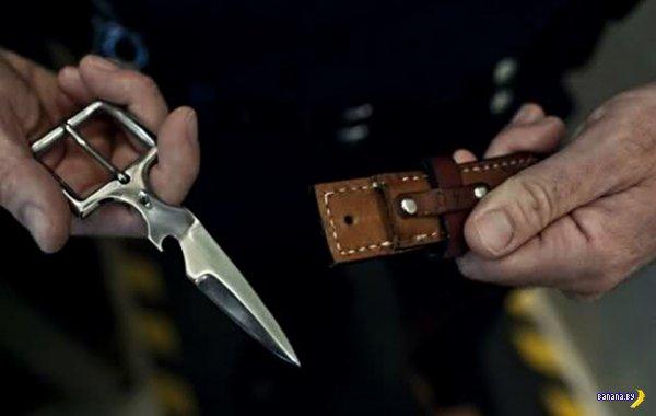 Шпионская пряжка-открывашка-нож