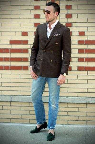 Как сочетать джинсы с пиджаком?
