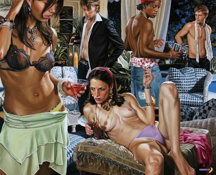 Золотая молодежь на картинах Терри Роджерса
