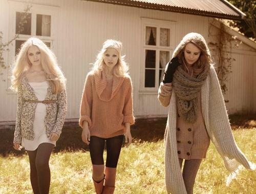 Осенние луки девушек
