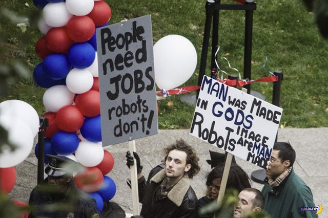 Люди против Робокопа